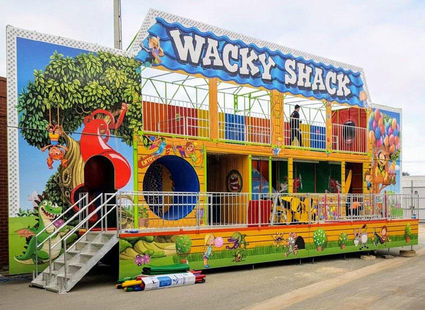 Wacky Shack fun house.